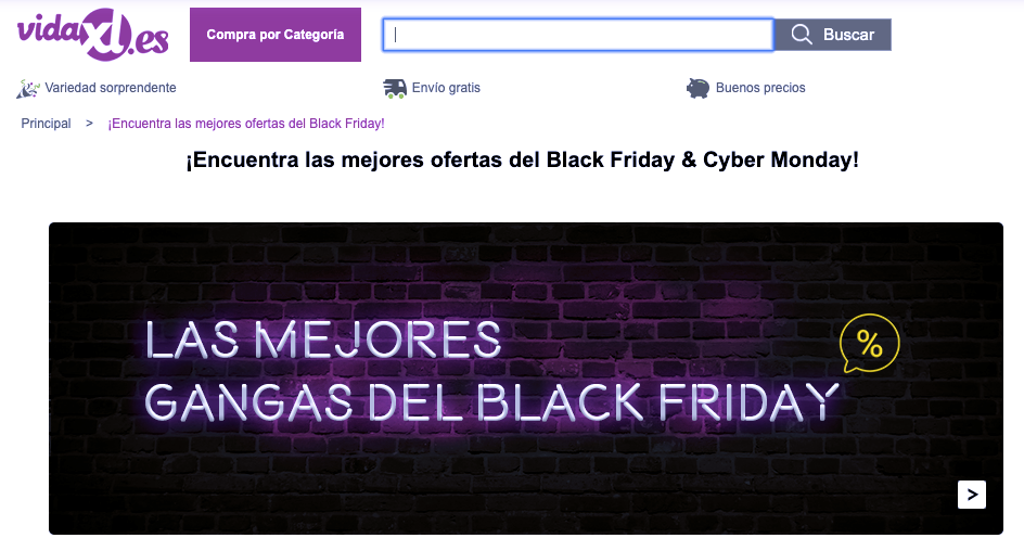 Descuentos de Black Friday en vidaXL