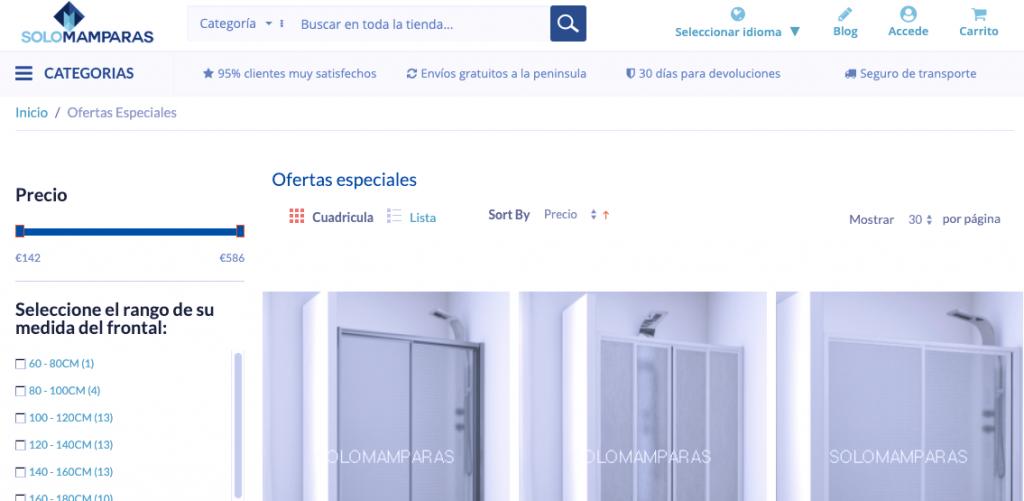 Ofertas especiales de mamparas en SoloMamparas