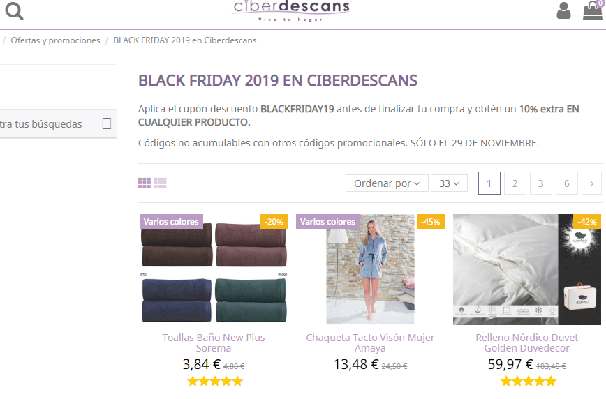 Ciberdescans Black Friday