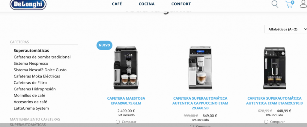 Cafeteras Superautomáticas DeLonghi - Black Friday