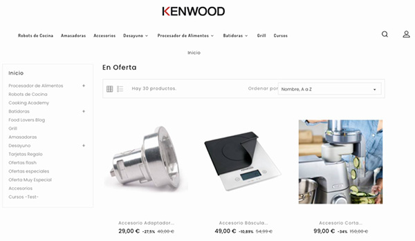 Black Friday de la Tienda Kenwood